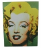 Cuadro Verde Collage Marylin Monroe