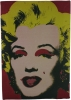Cuadro Collage Marylin Monroe Granate