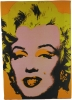 Cuadro Collage Marylin Monroe Naranja